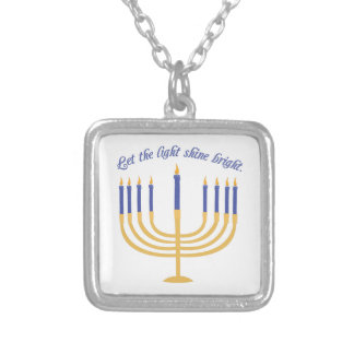 Let The Light Shine Bright Square Pendant Necklace