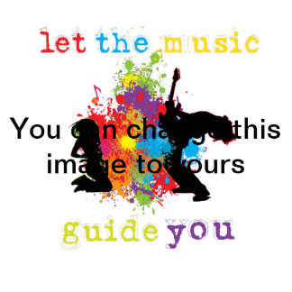 Let the music guide you photo cutouts