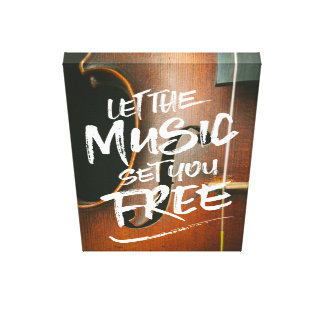 Let the Music Set You Free Musician Photo Template Canvas Print