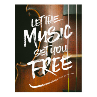 Let the Music Set You Free Musician Photo Template Postcard