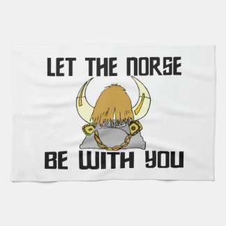 Let The Norse Be With You Tea Towel