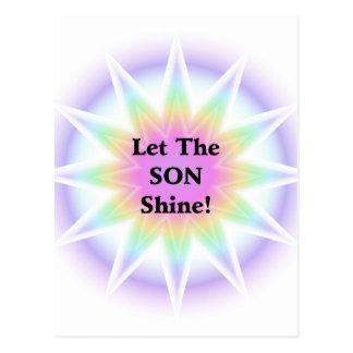 Let The Son Shine Postcard
