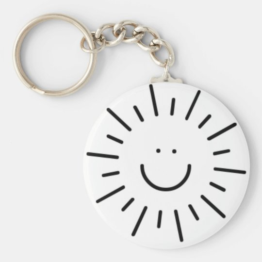 Let The Sunshine In! Basic Round Button Key Ring