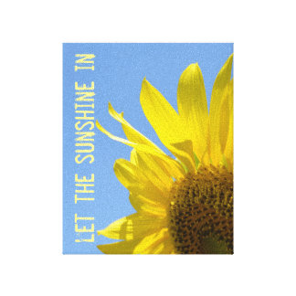 Let the Sunshine, Sunflower Wall Canvas Canvas Prints