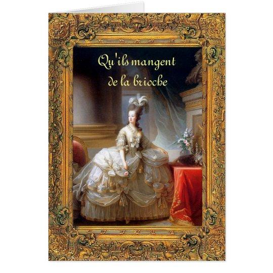 Let Them Eat Cake (French) Marie Antoinette Card