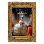Let Them Eat Cake (French) Marie Antoinette Greeting Card