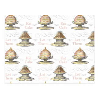 Let Them Eat Cake French Pastry Chef Post Card