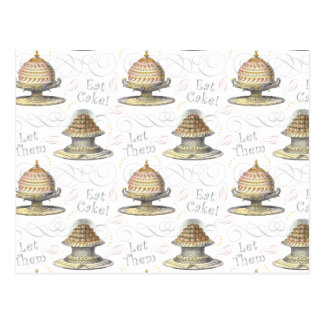 Let Them Eat Cake French Pastry Chef Postcards