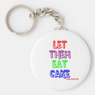 Let them eat cake key ring