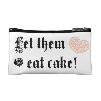 Let them eat cake makeup bag