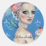 Let them eat cake Marie Antoinette Round Sticker