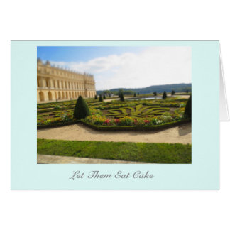 Let Them Eat Cake Palace of Versailles notecard
