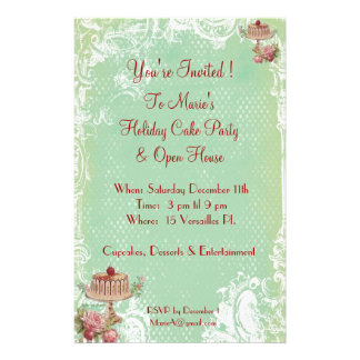 Let Them Eat Cake Party Invitations Flyer