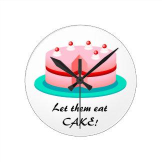 Let Them Eat Cake!: Pink Cake Kitchen Clock