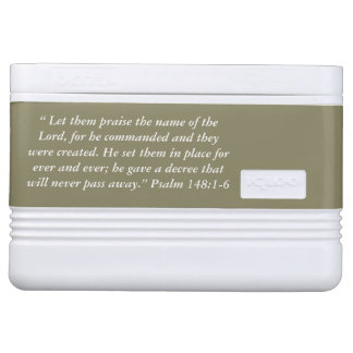 """Let them Praise"" Scripture Igloo 12 Can Cooler Igloo Cool Box"