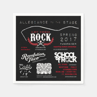 Let_Them_Rock_Allegiance_to_the_Stage_Napkins Disposable Napkin