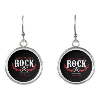 Let_Them_Rock_Logo_URL_Sterling_Plated_Earings Earrings
