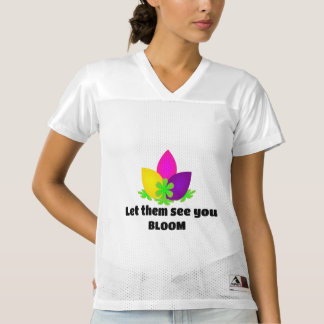 Let them see you BLOOM Women's Football Jersey