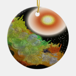 Let There Be Light Abstract Christmas Ornament