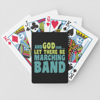 Let There Be Marching Band Bicycle Poker Cards