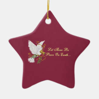 let there be peace on earth ceramic star decoration