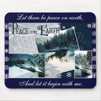 Let there be peace on earth mouse pad