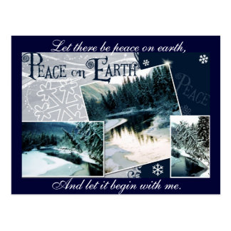 Let there be peace on earth post card