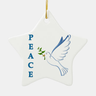 Let there be peace on earth this Christmas season! Ceramic Star Decoration