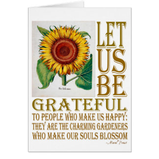 Let Us Be Grateful-Sunflower - Greeting Card Blank