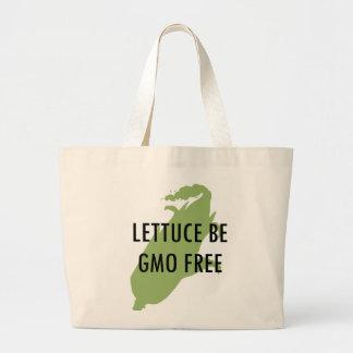 Let Us Be Lettuce Be GMO Free Tote Jumbo Tote Bag