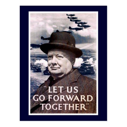 Let Us Go Forward Together Postcard