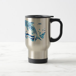 Let Us Live in Harmony with Our Dolphin Friends Travel Mug