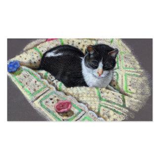 LET US PAMPER YOU: CAT: BUSINESS CARD
