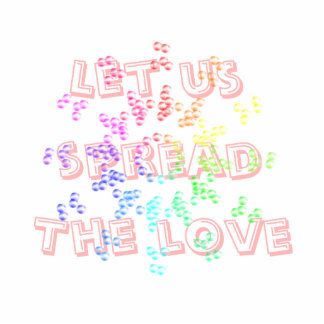 Let us spread the love sculpture photo sculpture magnet