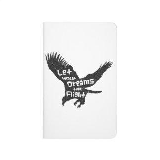 Let Your Dreams Take Flight Eagle Black Grunge Journals