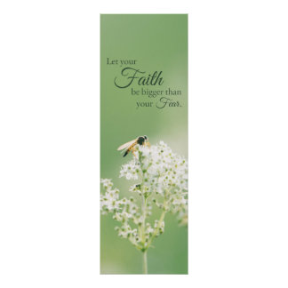 """""""Let your Faith…"""" Christian Quote Floral Flower Poster"""