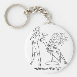 Let your favorite stylist know how you feel! basic round button key ring