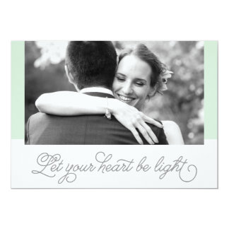 Let Your Heart Be Light Holiday Card   Newlyweds 13 Cm X 18 Cm Invitation Card