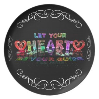 Let Your Heart be Your Guide Party Plates