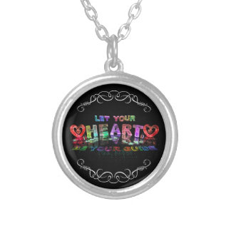 Let Your Heart be Your Guide Silver Plated Necklace