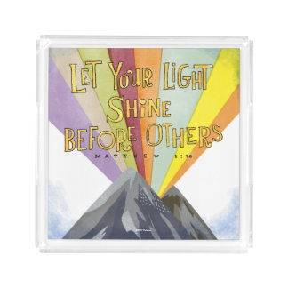 Let Your Light Shine Acrylic Tray