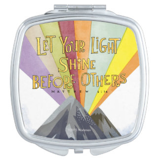 Let Your Light Shine Compact Mirror