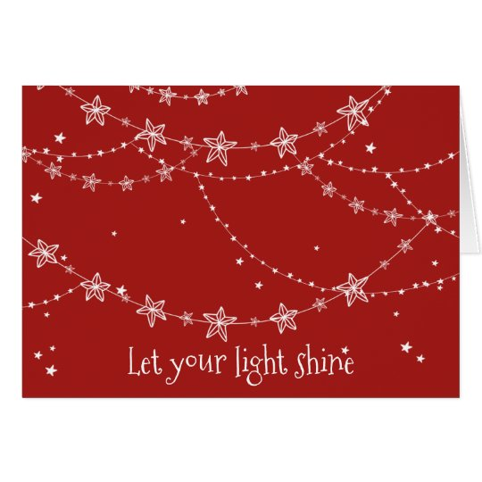 Let Your Light Shine | Holiday Greeting Card