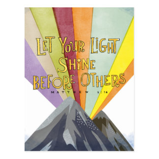 Let Your Light Shine Postcard