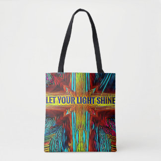 Let Your Light Shine Religious Positive Tote Bag