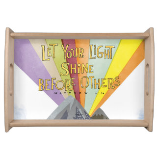 Let Your Light Shine Serving Tray