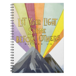 Let Your Light Shine Spiral Note Book
