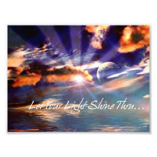 Let Your Light Shine Thru Art Photo