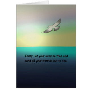 LET YOUR MIND BE FREE SEAGULL INSPIRATIONAL CARD