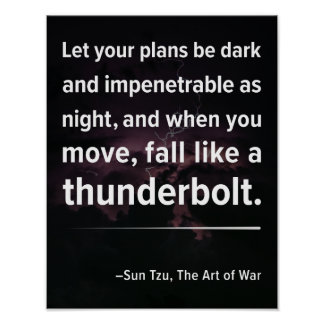 """Let Your Plans..."" Art of War Quote Poster"